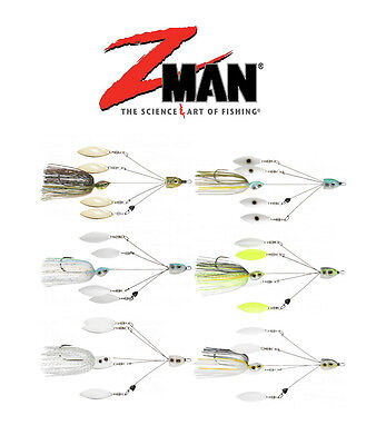 "Z Man Quadzilla 4-Arm Spinnerbait 7 1/2""Bass Spinner Bait & Trout Buzz Bait"