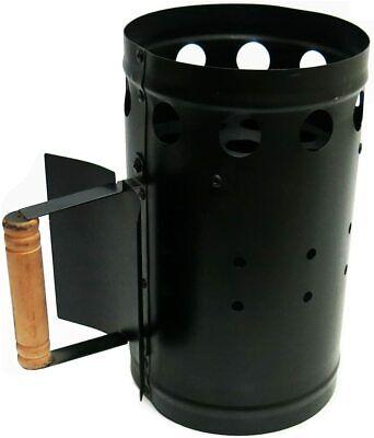 27 16 27 Cm - BBQ Metal Chimney Charcoal Starter (Black), Color May Vary