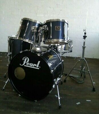 Pearl Export Drum Kit 1990's Deep Blue with extras