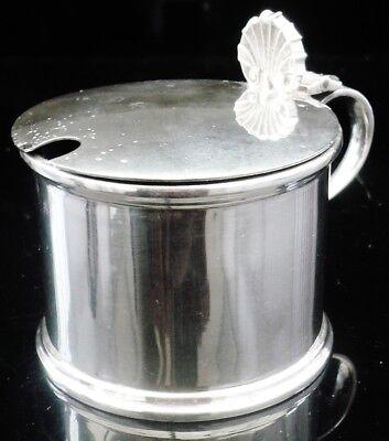 LARGE Silver Mustard Pot & Glass Liner, London 1959, C J Vander Ltd