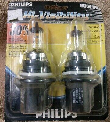 Twin pack Headlight Bulb-Headlamp Lamp Philips 9004HV  HI-VISIBILITY