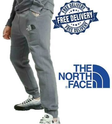 The North Face Mens Joggers Gym Running Tracksuit Bottoms Sweat Pants Grey