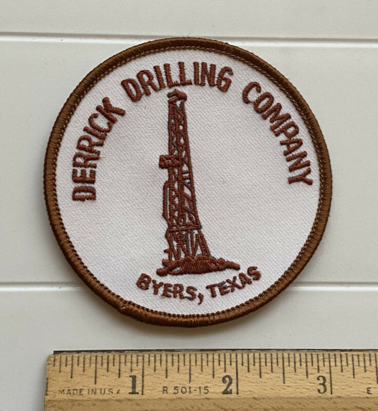 Derrick Drilling Company Byers Texas TX Round Embroidered Patch