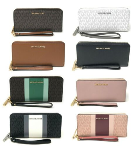 Michael Kors Jet Set Travel Large Travel Continental Wristlet Wallet Clutch Clothing, Shoes & Accessories