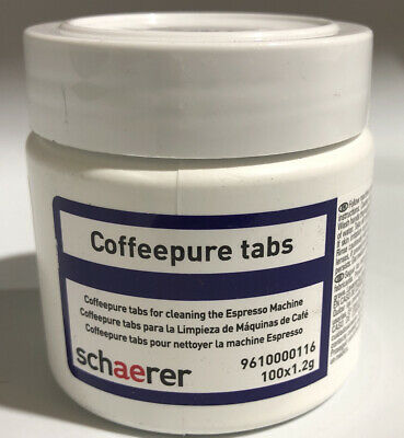 Schaerer Coffeepure Tabs For Cleaning Expresso Machine 100 Bcc X 1.2g
