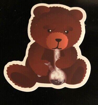 Bad Smoking Teddy Bear Adult Humor Skateboard Guitar Laptop Decal/Sticker