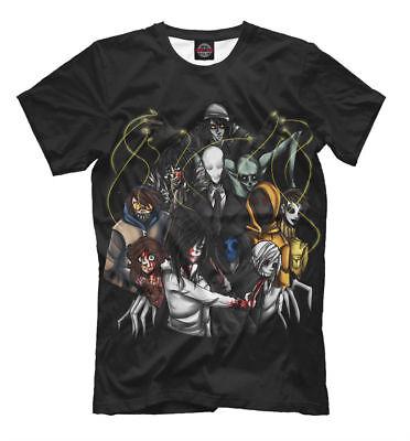 Creepypasta NEW t-shirt Horror Fear Scary halloween HQ