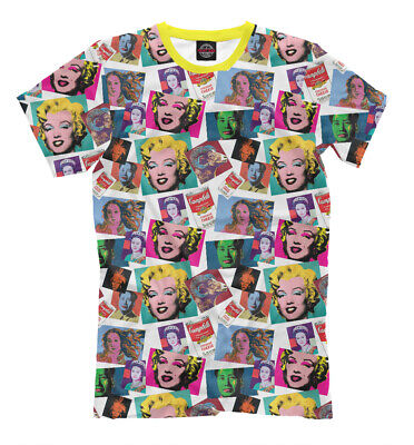 Pop art t-shirt - Marilyn Diptych Campbell's Soup Can Graphic all over printed