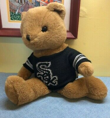 "Chicago White Sox Roxbury Teddy Bear Sweater Point 40 14"" tall"