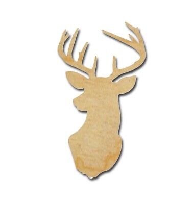 Buck Deer Unfinished Wood Craft Cutout Animal Shapes Variety of Sizes