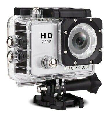 Proscan PAC2000 Waterproof Action Camera with Bike & Helmet Mount