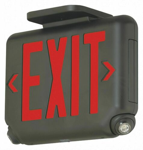 HUBBELL LIGHTING - Dual-Lite EVCURBD Exit Sign Black Red Letters LED 1 or 2 Side