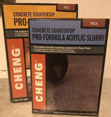 Cheng Concrete Countertop Pro-formula Mix 1 Bag Color And Slurry Mix Brick
