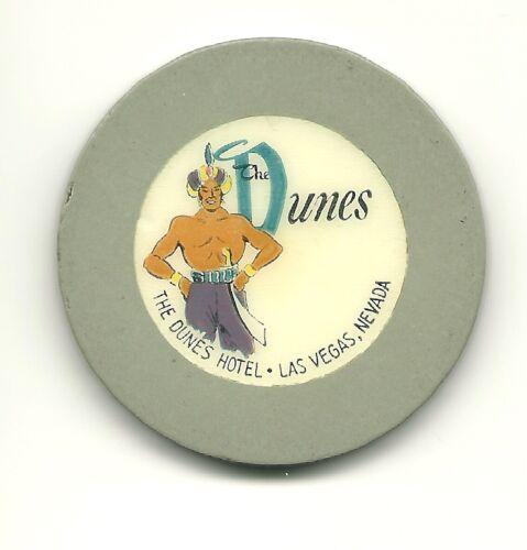 DUNES HOTEL Roulette Casino Chip Gray Las Vegas RLT Poker Sultan Obsolete Old
