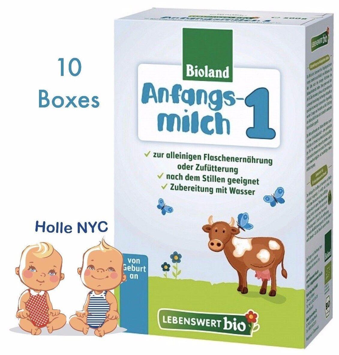 Holle Lebenswert Stage 1 Organic Formula, 09/2019 FREE SHIPPING 10 BOXES