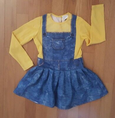 Minions Girl Costume (Girl Size Medium 8 Minion Dress)