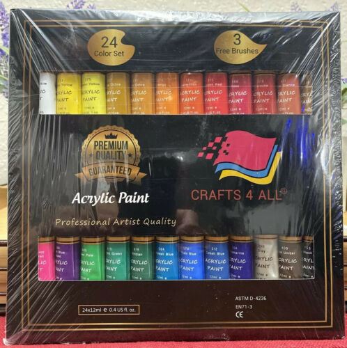 acrylic paint set 24 colors by includes