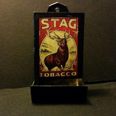 Vintage Style Stag Tobacco  Tin Matchbox Holder...Handcrafted by Artist...Nice
