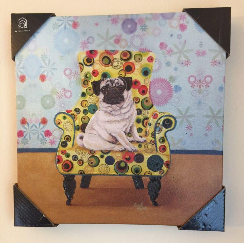 Pug Oul On Canvas Painting