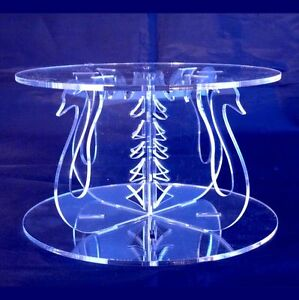 Acrylic Swans Cross Pillars 10cm High for our Wedding & Party Cake Stands
