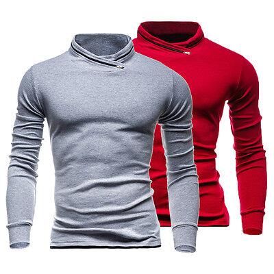 Men's Slim Pullover Hoodie Winter Warm Hooded Sweatshirt Coat Sweater Outwear