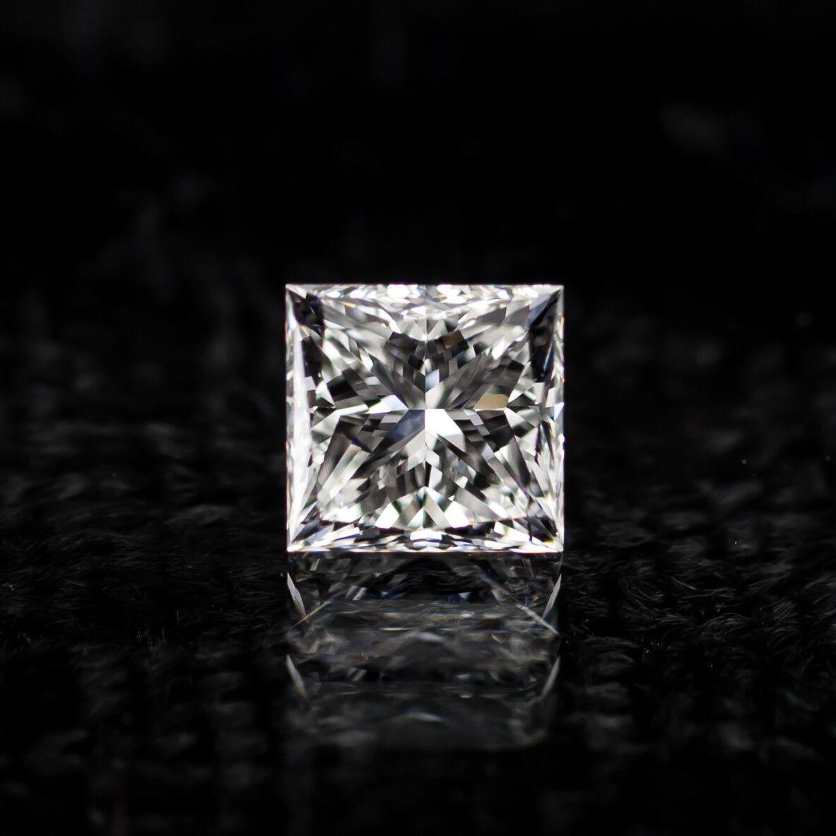 0.76 Carat Loose E / VS1 Princess Cut Diamond GIA Certified