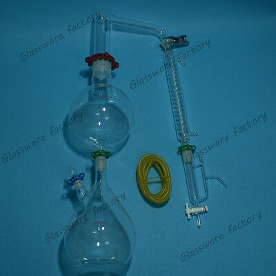 Glass Essential Oil Steam Distillation Apparatusgraham Condenserwclamps