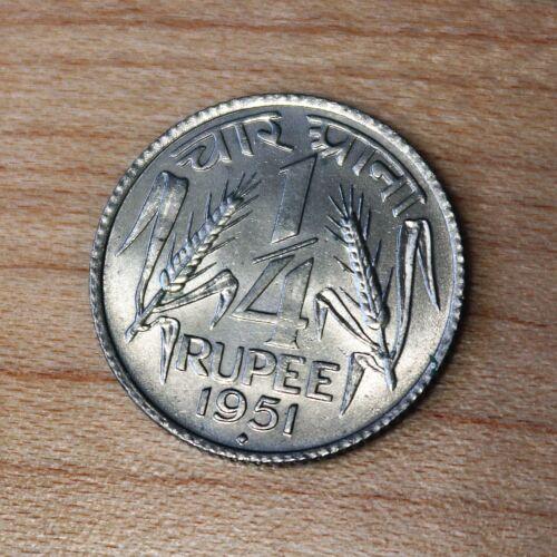 1951 India 1/4 Rupee