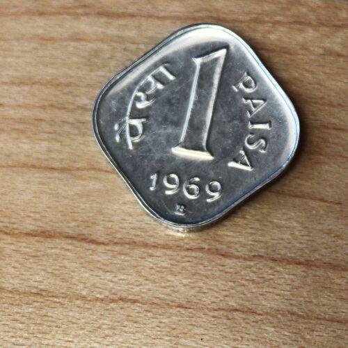 1969 B India 1 Paisa Proof