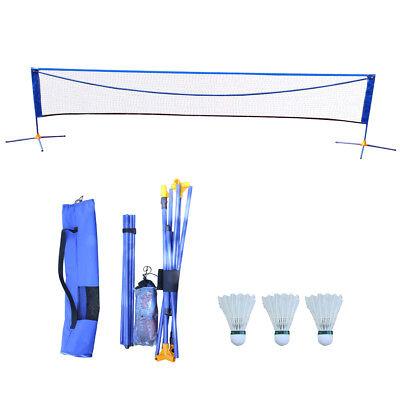 Hot Sale Height Adujstable Badminton Volleyball Tennis Net Set Equipment 16'X5'