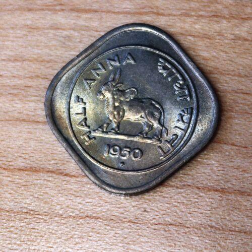 1950 India 1/2 Anna