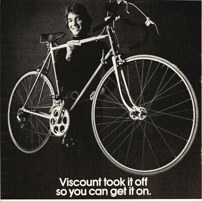 Bicycle Viscount Yamaha Aerospace Cycles 10 Speed Bike 1976 Vintage Print Ad