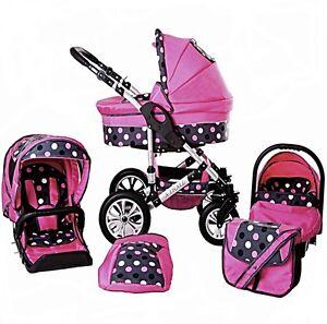 Baby Pram Pushchair Buggy Stroller + Car Seat Travel ...
