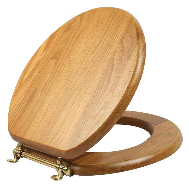 Design House 561241 Round Wooden Toilet Seat - Wood