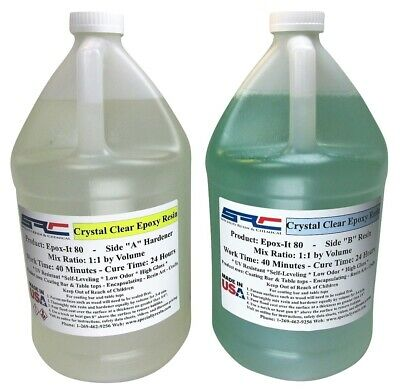 Clear Epoxy Resin For Table Tops Gloss Coating Casting 2 Gallons