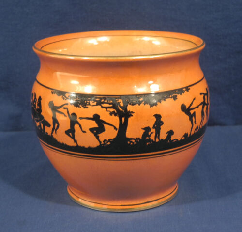 Vtg Antique Coronet Porcelain Vase Pixies Elves Children Brownies Nymphs Nudes