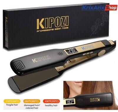 KIPOZI HS139 Piastra Keratina per Capelli Larga Professionale Lisciante Digitale