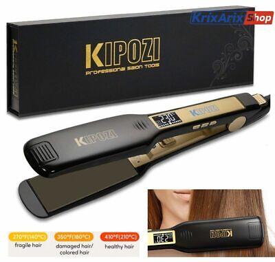 KIPOZI HS139 Piastra per Capelli Professionale Larga Lisciante