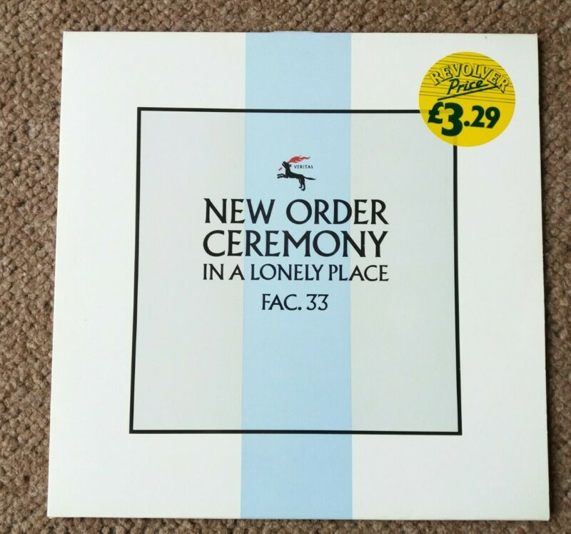 "New Order Ceremony In a Lonely Place Fac33 Original Vinyl 12"" Single 1981"