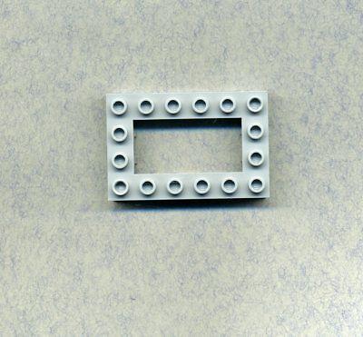 2 x 16 Lego-- 4282 --- Bauplatte Grau//DKStone 2 Stück