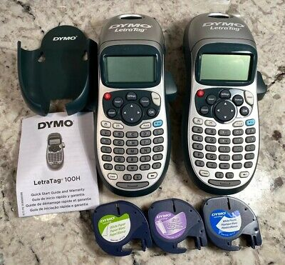 Two Dymo Letratag Lt-100h Plus Handheld Label Maker Two Tapes Read Description