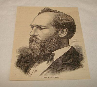 1885 magazine engraving~ JAMES A. GARFIELD