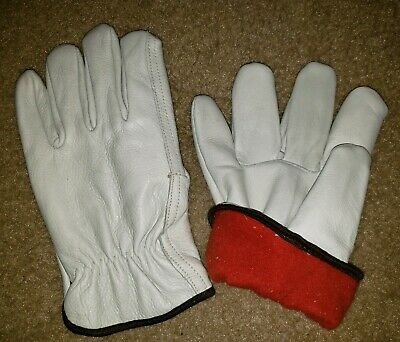 Insulated Fleece Gloves Premium Industrial Leather Work Glove X Large 1 Pair New