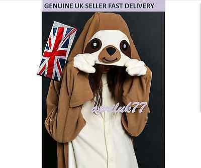 Sloth Onsie1 Kigurumi Fancy Dress Costume Hoodies Adult Cosplay Pajamas UK (Kostüm Onsie)