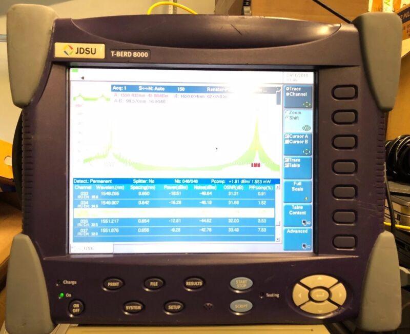 JDSU MTS-8000 & OSA-500R Module, Charger & Batteries
