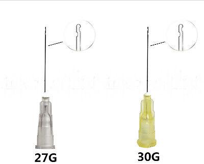 20pcs Dental Endo Irrigation Needle 27g30g Disposable Syringe Tips 2 Side Holes