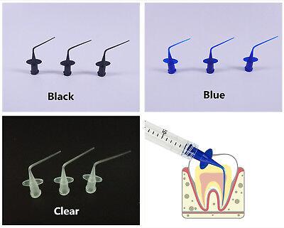 Dental Disposable Irrigation Syringe Tip Endo Oral Needle Tip Plastic Blue Clear