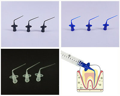 Disposable Dental Irrigator Syringe Tips Endo Irrigation Needle Plastic Oral Tip