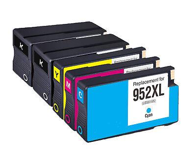 Cyan Magenta Yellow Package (5PK HP 952XL Black and Cyan Magenta Yellow Remanufactured Ink Cartridge Bundle )