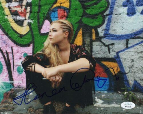 Florence Pugh Autographed Signed 8x10 Photo JSA COA #3